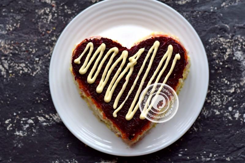 салат гранатовое сердце рецепт на праздничный стол в домашних условиях