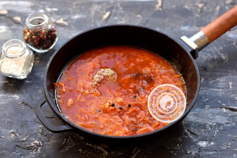 хек под томатным соусом рецепт с фото