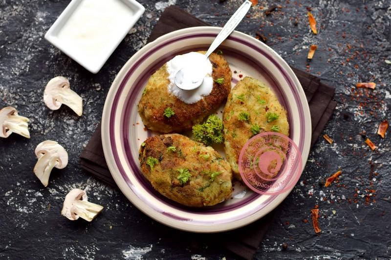 картофельные котлеты с грибами рецепт в домашних условиях