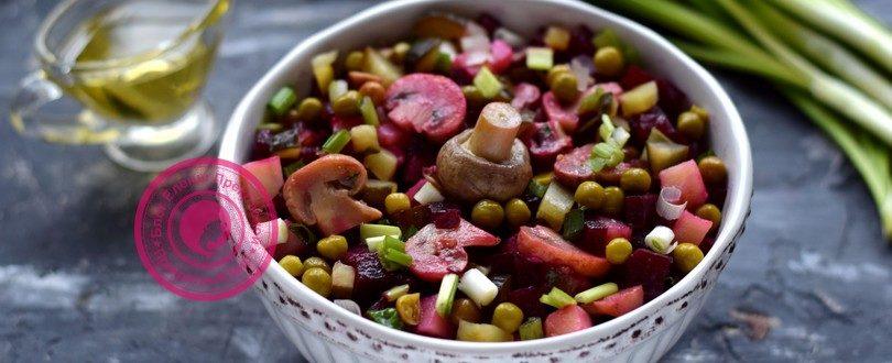 салат с маринованными грибами рецепт в домашних условиях