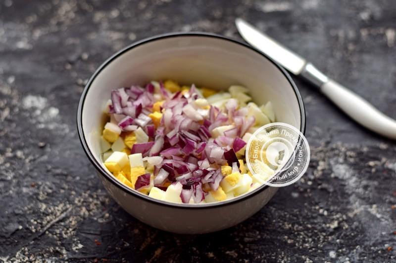 салат с сельдью рецепт с фото