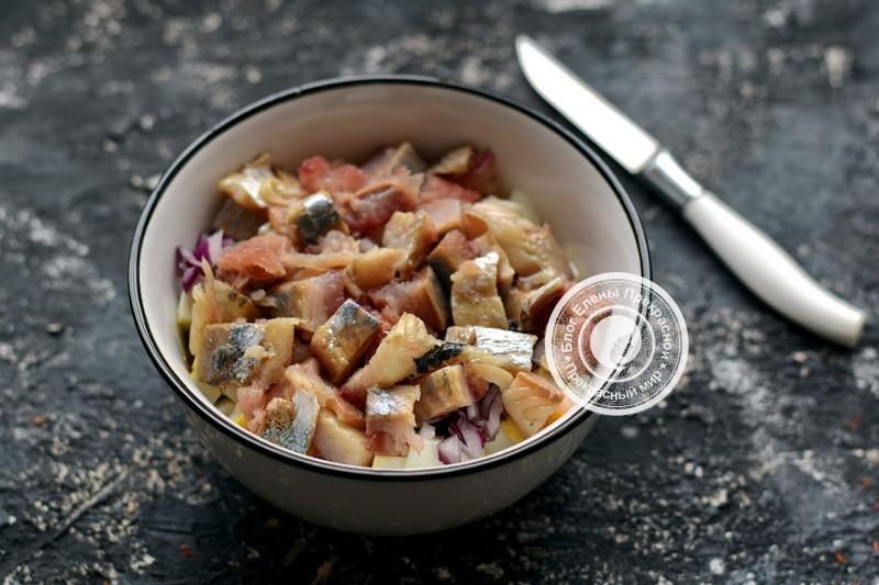 салат с сельдью рецепт в домашних условиях