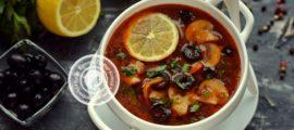 постная солянка с шампиньонами рецепт в домашних условиях