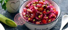 Винегрет с фасолью и квашеной капустой: постный рецепт с фото