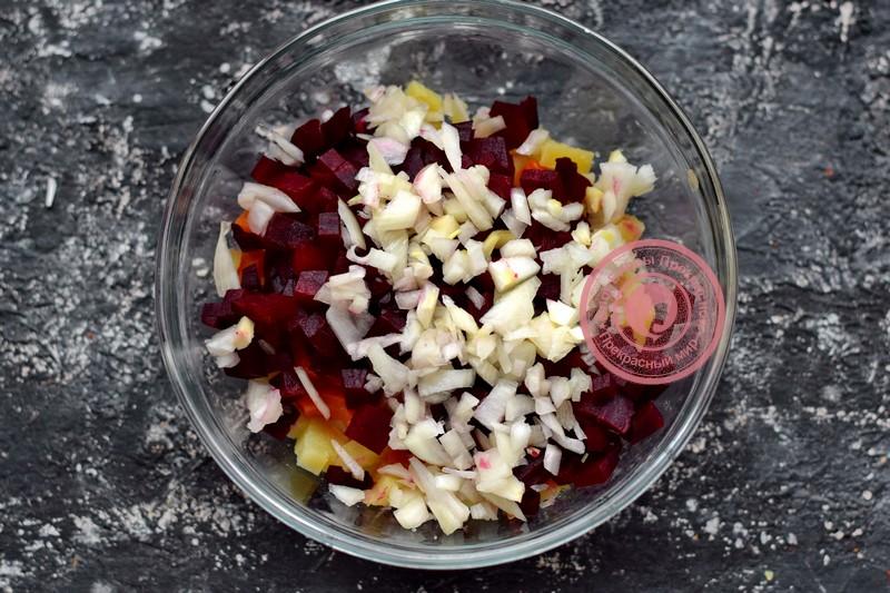 винегрет с фасолью и квашеной капустой рецепт на Великий пост