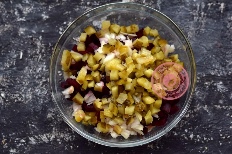 винегрет с фасолью и квашеной капустой рецепт в домашних условиях