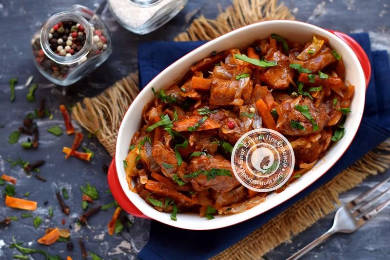 Куриное филе, тушеное с капустой в томате: рецепт в домашних условиях