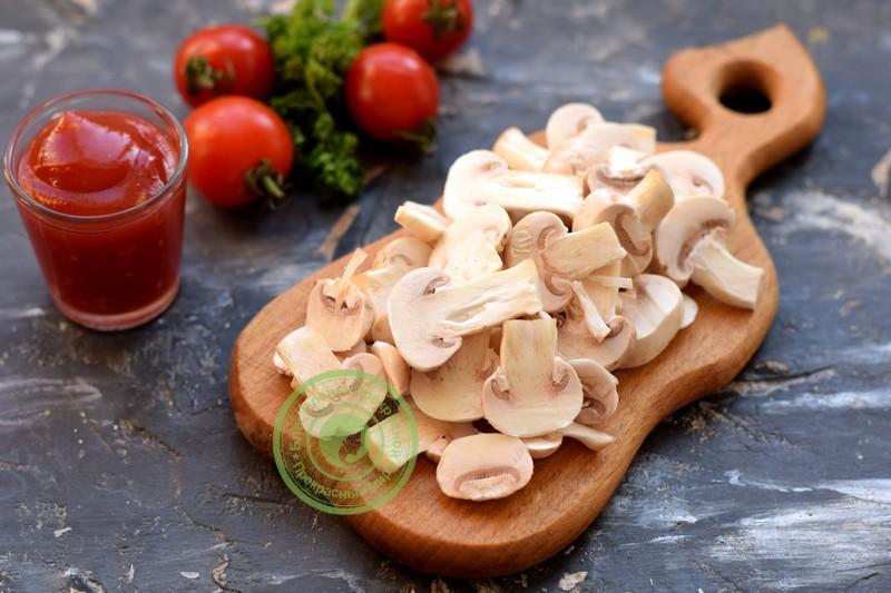 овощная пицца с грибами рецепт