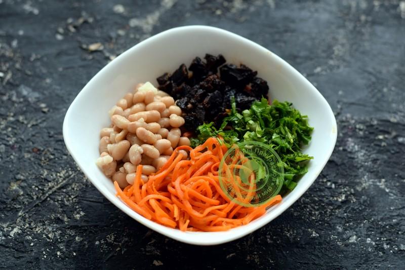 постный салат Каприз рецепт