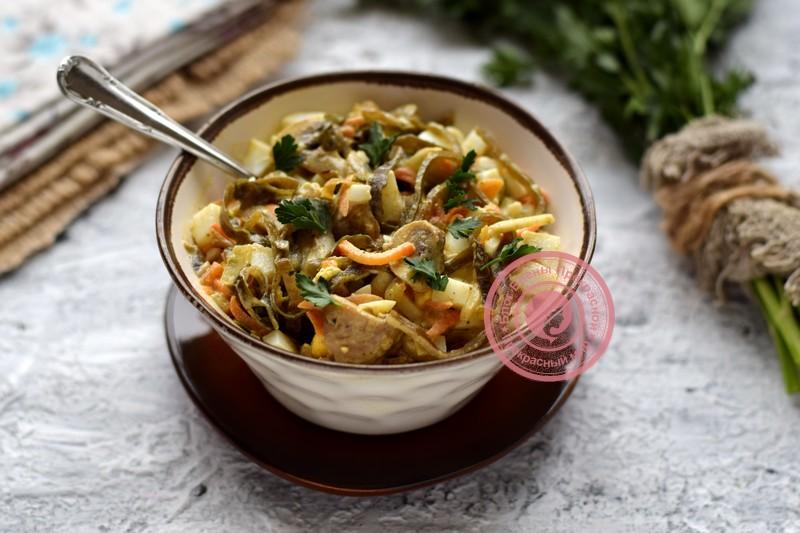 салат из морской капусты с грибами рецепт на праздничный стол