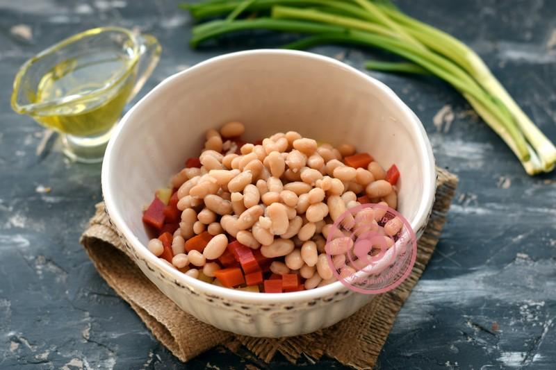 салат с фасолью рецепт с фото
