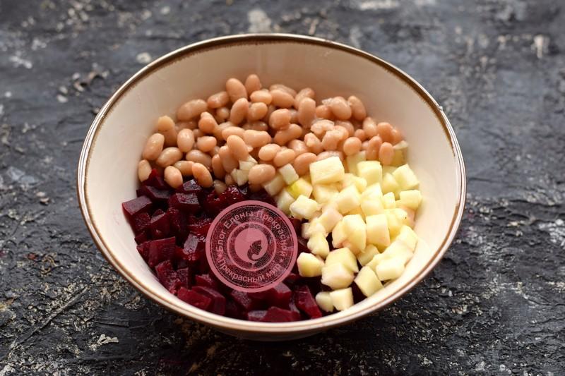 постный салат с фасолью рецепт с фото