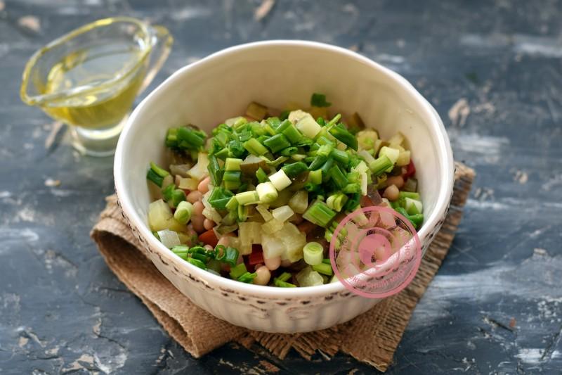 салат с фасолью рецепт в домашних условиях