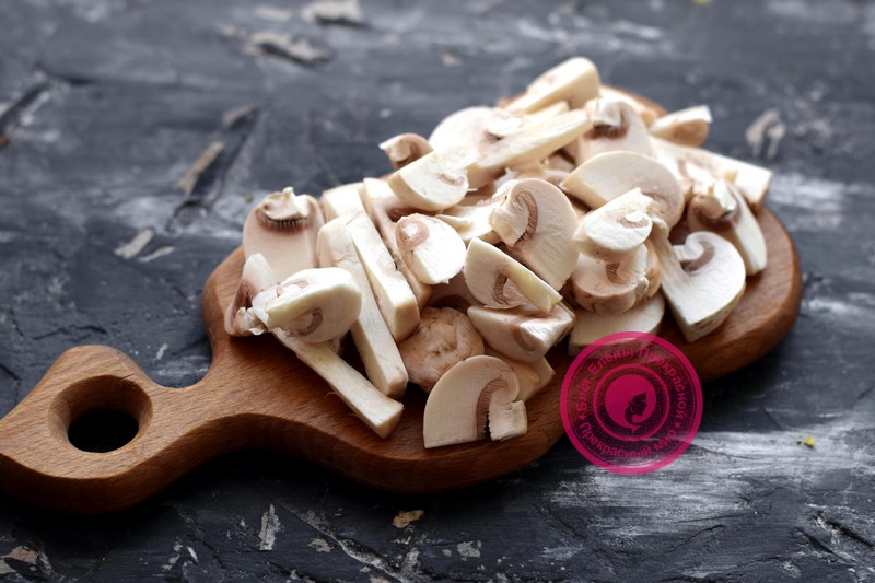 постный салат с фасолью и грибами рецепт