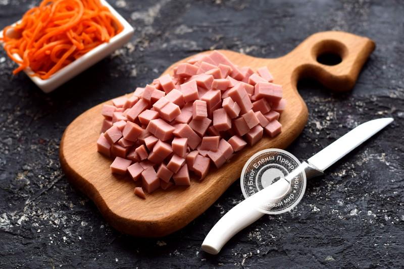 салат с корейской морковью рецепт с фото
