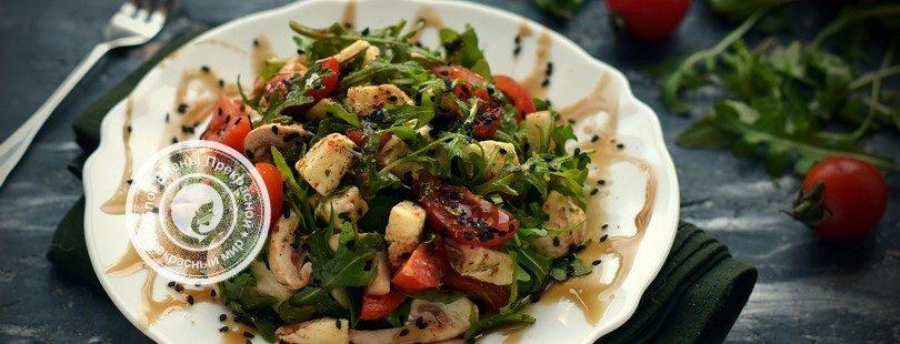 салат с рукколой и сырыми шампиньонами рецепт на праздничный стол