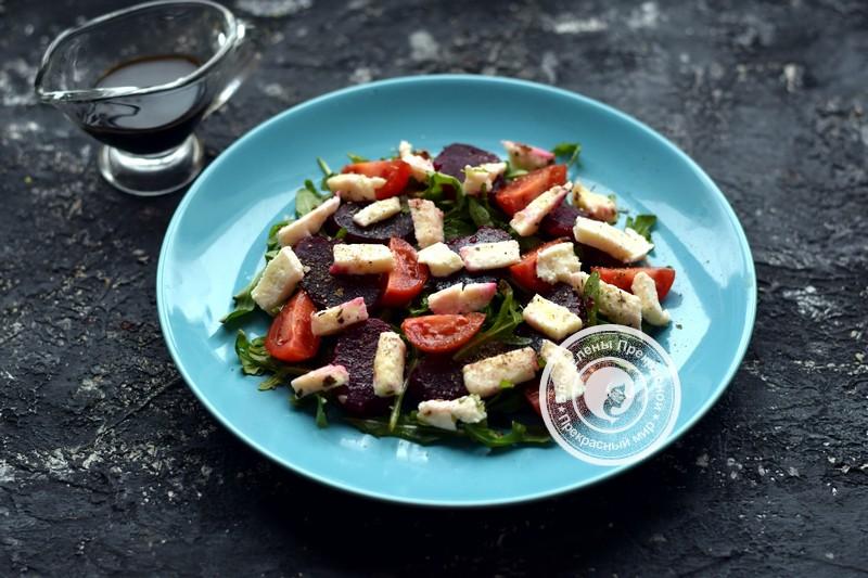 Салат со свеклой, моцареллой и рукколой рецепт в домашних условиях