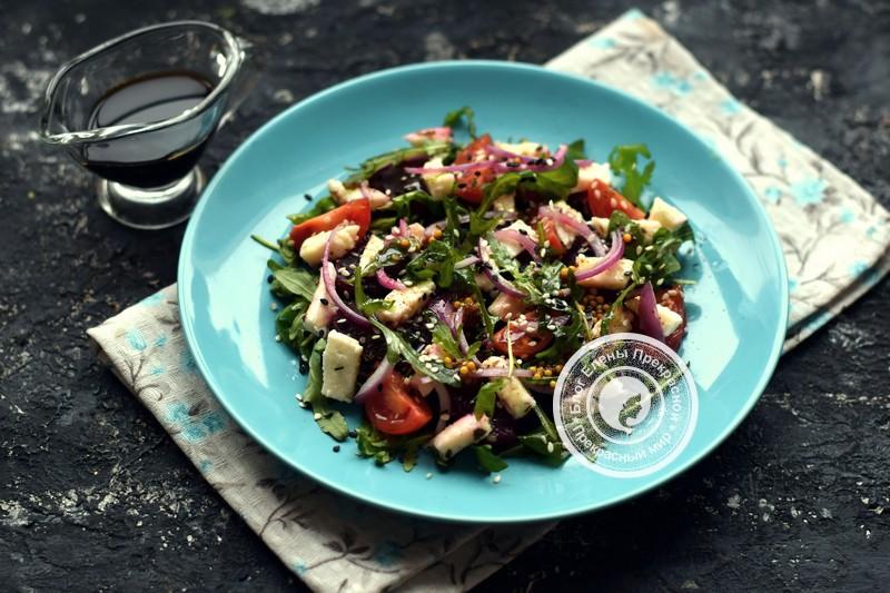 Салат со свеклой и рукколой с моцареллой рецепт на праздничный стол