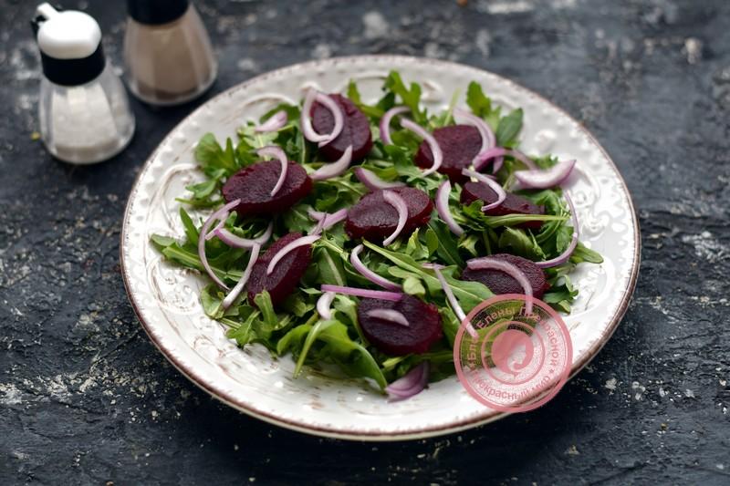 салат со свеклой и орехами рецепт с фото