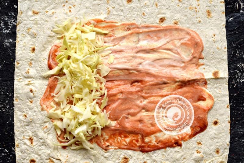 Постная шаурма с овощами и фасолью рецепт