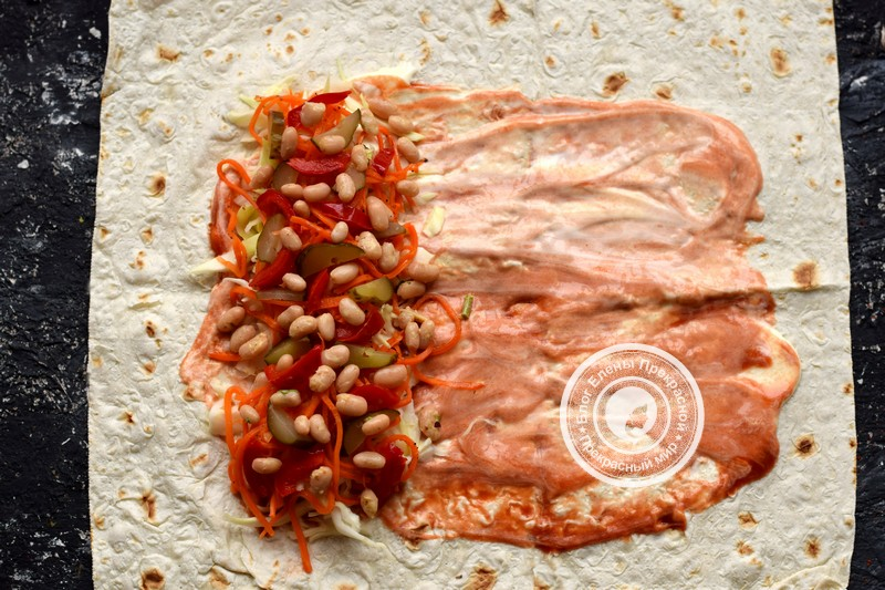 Постная шаурма с овощами и фасолью рецепт в домашних условиях