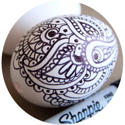 узоры на яйцах фломастерами