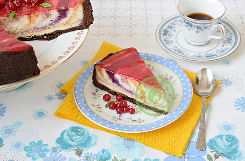 чизкейк с фруктами и ягодами рецепт в домашних условиях