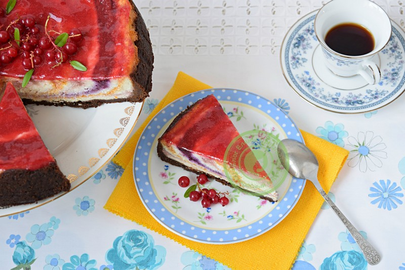 чизкейк с фруктами и ягодами рецепт