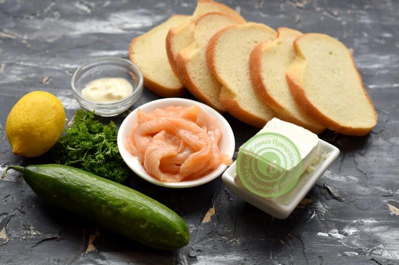 гренки с лососем