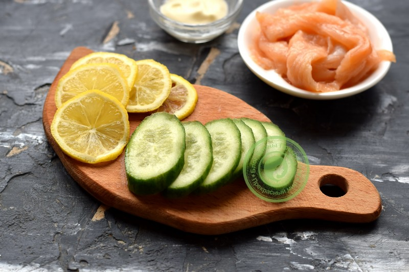 гренки с лососем рецепт