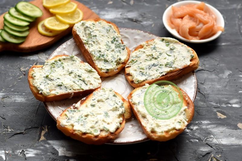 гренки с лососем рецепт в домашних условиях
