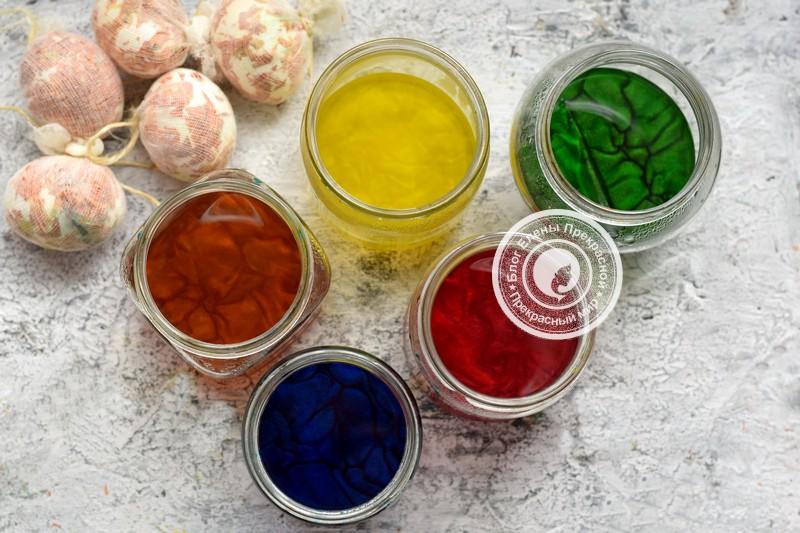 мраморные яйца на Пасху рецепт в домашних условиях