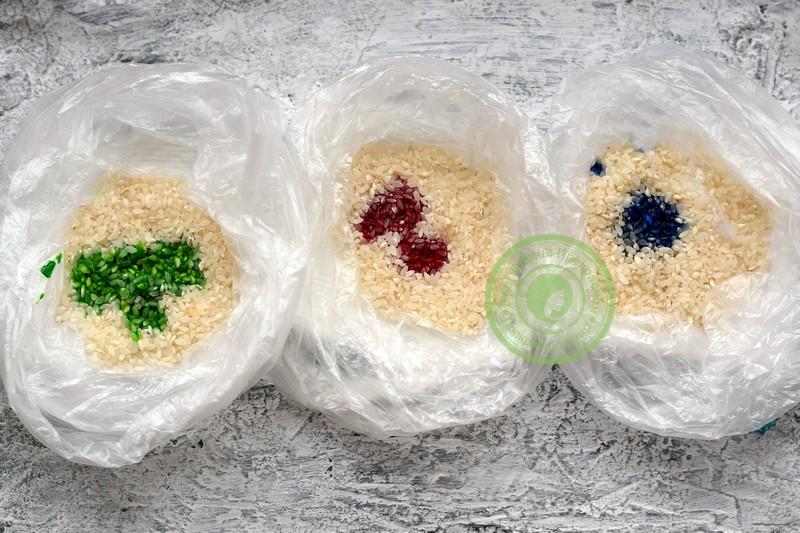 покраска яиц рисом рецепт с фото