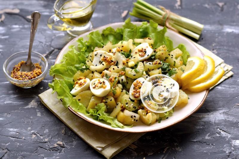картофельный салат с сельдереем рецепт в домашних условиях