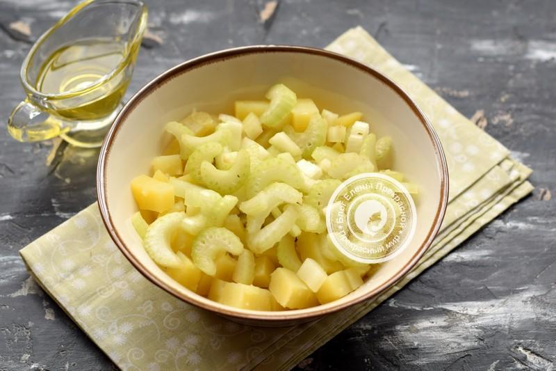 картофельный салат с сельдереем рецепт с фото