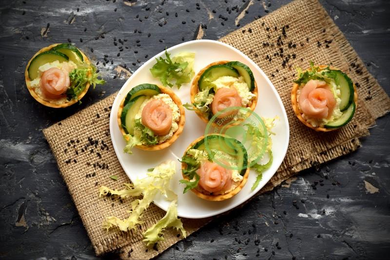 закуска розочки с красной рыбой рецепт в домашних условиях