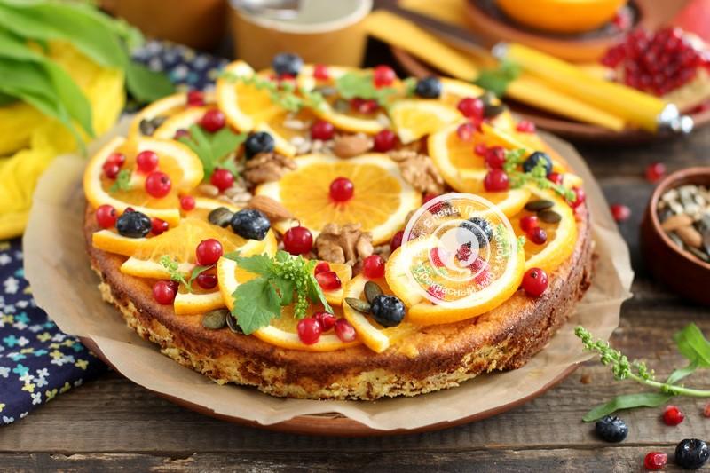 творожный пирог с апельсинами рецепт в домашних условиях