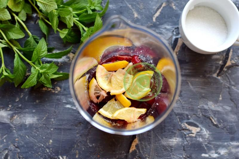 лимонад из черешни с мятой рецепт