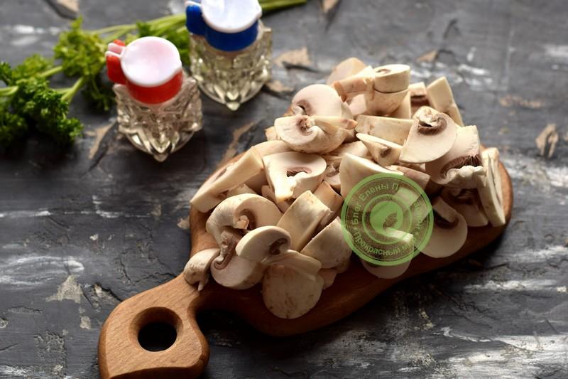 фетучини с курицей и грибами рецепт