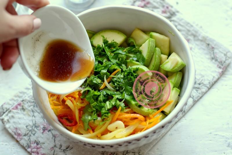 Хе из кабачков по-корейски рецепт в домашних условиях