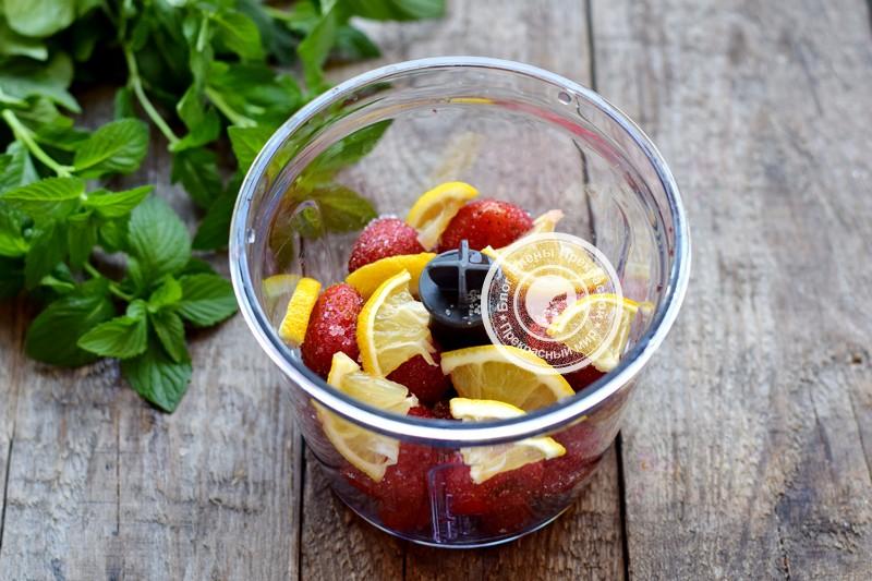 клубничный лимонад с мятой рецепт с фото
