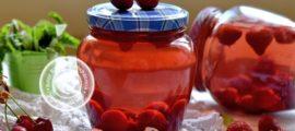 компот из черешни и клубники рецепт в домашних условиях