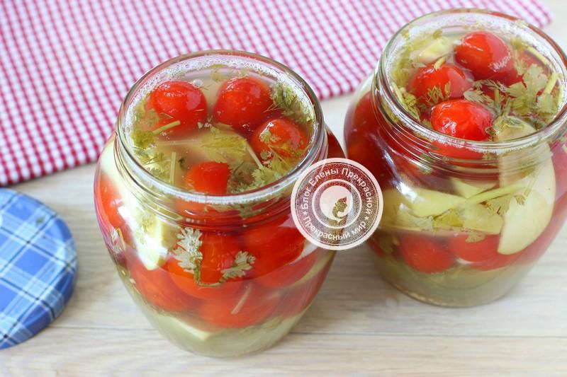 квашеные помидоры с яблоками рецепт в домашних условиях