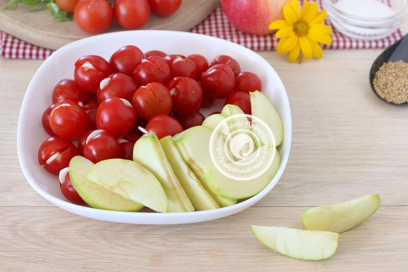 квашеные помидоры с яблоками рецепт приготовления