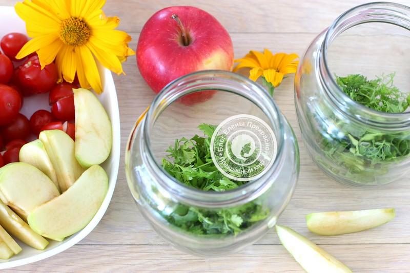 квашеные помидоры с яблоками рецепт