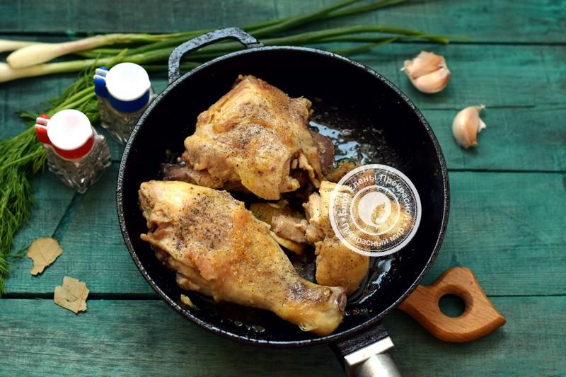 молодой картофель с курицей