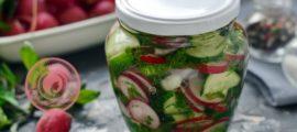 Салат из редиса и огурцов на зиму: рецепт в домашних условиях