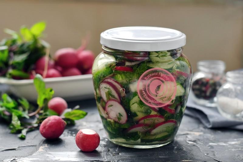 салат из редиса и огурцов рецепт в домашних условиях
