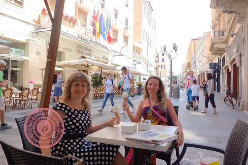 Знаменитое итальянское мороженное в Сан-Ремо