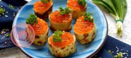 Закуска из блинов и красной икры: фото рецепт в домашних условиях